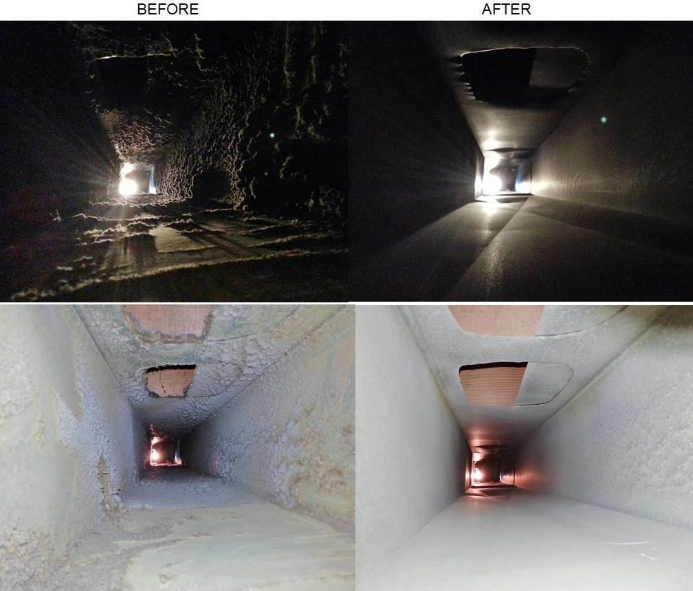 Before and After Air Ducts